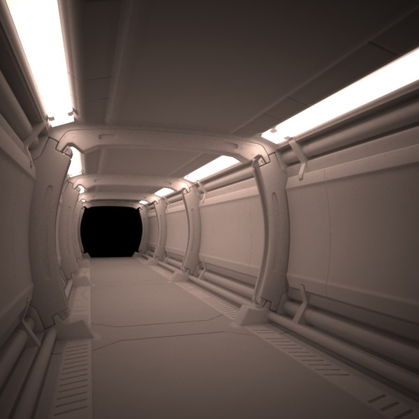 max spaceship corridor - spaceship corridor... by cermaka